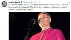 """Migranti, Salvini attacca il cardinale Lorefice: """"Penso ai poveri italiani, sbaglio?"""""""