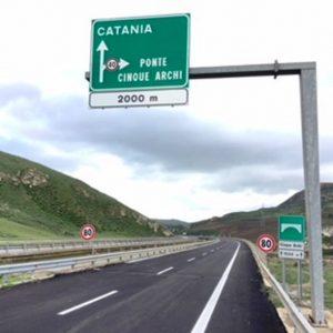 Autostrada A19, ultimati i lavori di manutenzione del viadotto Cinque Archi