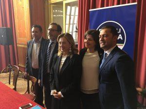 """Meloni a Palermo: """"Mi aspettavo più coraggio da Musumeci"""""""